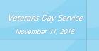 Veterans Day Service 2018